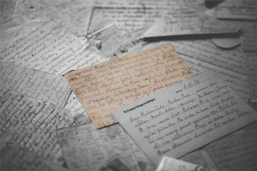 zdjęcie z wystawy listy czasu wojny
