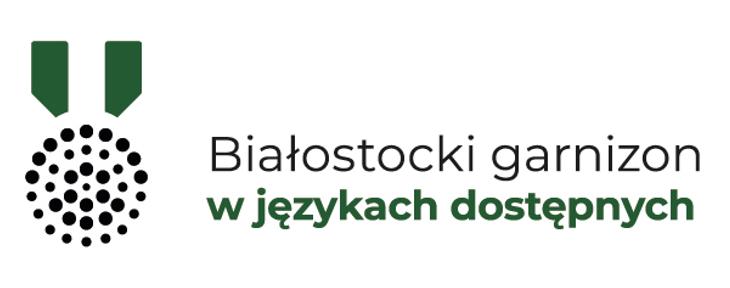 Białostocki garnizon w językach dostępnych - logo