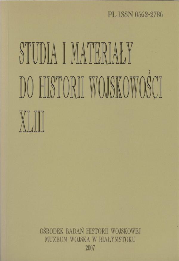 Studia i Materiały do Historii Wojskowości